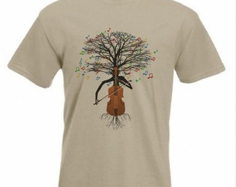 Cello T-shirt Musical Tree Cellist Violoncello in all sizes