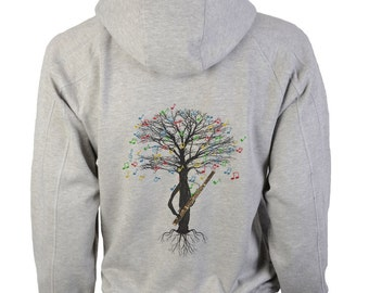 Bassoon Hoody Musical Tree Bassoonist woodwind in sizes up to XXL