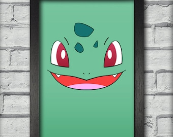 Bulbasaur Face Pokemon Art Print