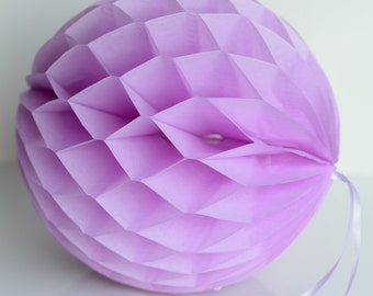 Lilac Tissue paper honeycombs - hanging wedding party decorations, paper ball, party honeycombs, party decor