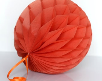 Sandstone Tissue paper honeycombs -  hanging wedding party decorations