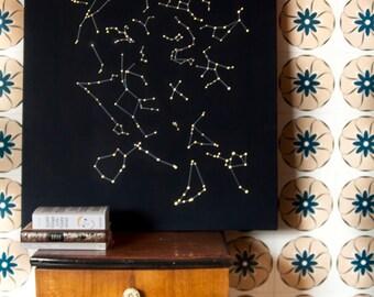 lighting / stars / constellation /  maps / lamp / home decor / lamp / handmade / design / wood