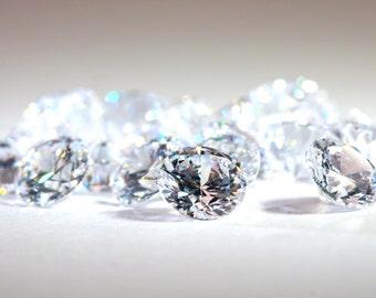 2pcs+ 6mm & 6.5mm 5A Round Cubic Zirconia Loose Stone Lot supplies, Diamond Clear, Diamond Brilliant Cut, CZ, stones for jewellery making.