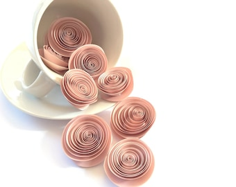 Metallic rolled roses paper flowers/ DIY rolled roses /Event decoration /Table decoration / Pack of 10