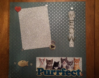 """12x12 Scrapbook Pages-Complete, """"Pets-Cats"""""""