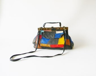 Colorful Patchwork Leather Purse