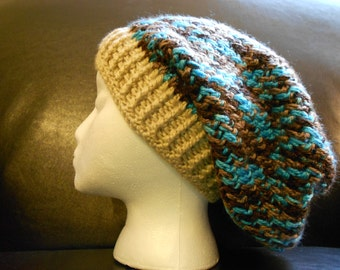 Blue/Brown Slouch Hat