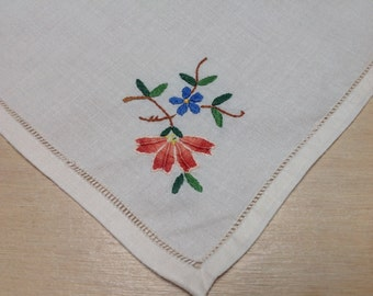 Vintage embroidered handkerchief – Embroidered flower- Vintage hanky – Ladies' handkerchief – set of 11 vintage handkerchiefs