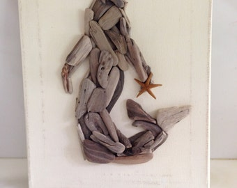 Driftwood Mermaid, Mermaids, Mermaid Decor, Mermaid Art, Coastal Decor, Beach Decor, Coastal art