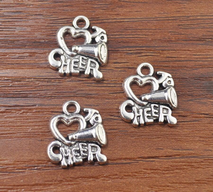 Cheer Charm Bracelets: I Heart To Cheer Charms Cheerleading Charms Cheer