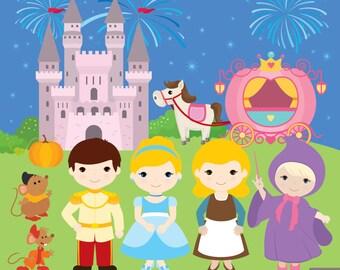 Cinderella Princess Digital Clipart