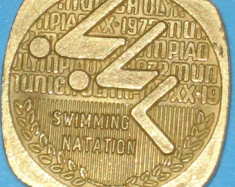 1972 ~ Canadian Olympic Coin ~ Swimming