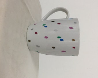 Colorful dot coffee mug