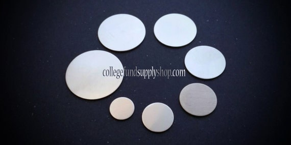 """1/4"""" pewter stamping blank 18g SET OF 3,  1/4"""" round disc, jewelry supply, disc for etching, metal supply shop, jewelry supply, handstamping"""