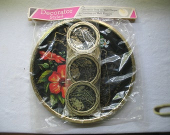 Vintage tray souvenir of Florida with slot glass in are packaging 1970
