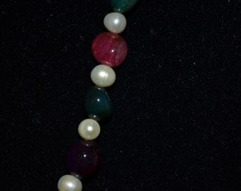 Mixed Color Gemstones and Freshwater Pearls