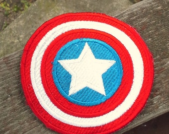 Captain America Patch - Iron on - Embroidered