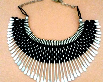 The tribal bib necklace