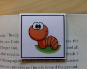 Magnetic Bookmark: Fletcher, the Worm