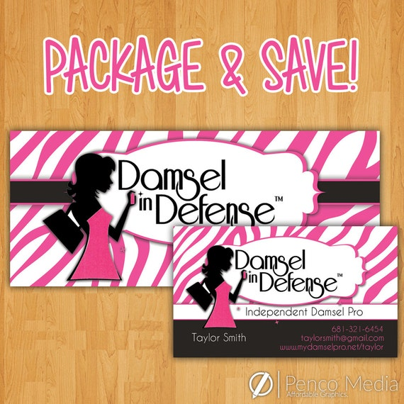 Damsel in defense business card and banner design by for Damsel in defense business cards