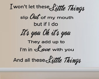 Little Things  - Wall Decal