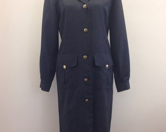 Burberry 1980s military style dress.