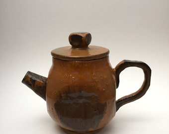 Ceramic Rust and Orange Teapot