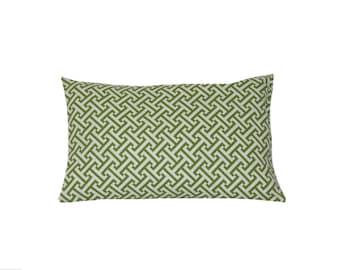 Green Trellis Pillow Cover