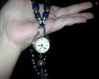 A Beaded Watch Necklace