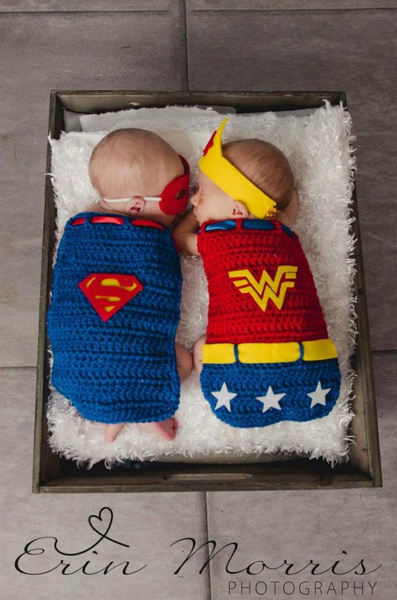 Crochet Baby Superman Cape & Mask SetWonder Woman Cape and