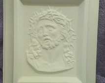 Sun State 517 Ceramic Jesus Plaque - Bisque (Ready to Paint)
