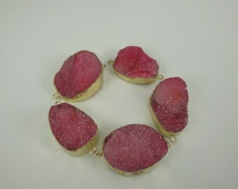 5pcs Druzy Agate Rose Jewlery Making Suppliers Gemstone Necklaces for Dinner Fashion Design