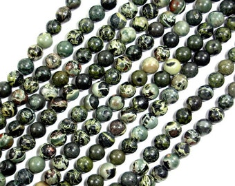Military Jasper Beads, Round, 4 mm, 15.5 Inch, Full strand, Approx 96 beads, Hole 0.5 mm, A quality (316054002)