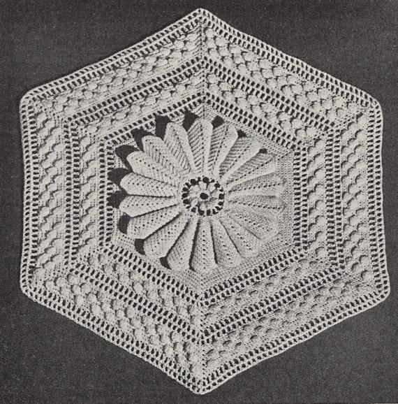 Vintage Crochet Blanket Pattern 40s Bedspread Crochet