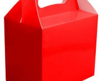 Red Party Boxes - Favour Box - Treat Box (5 - 50 Packs)