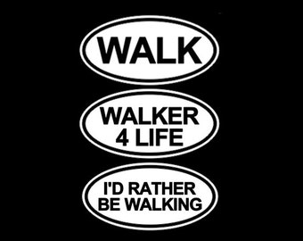 Walking Stickers Car Decal Car Stickers Bumper Sticker Car Window Decal Laptops Tablets