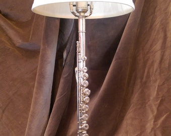 Flute Lamp with Blue Base