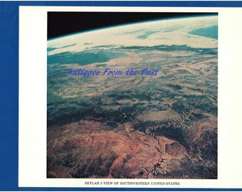 1974 NASA Original Press Release Photo jscl-117, Skylab 3 View of Southwestern Unied States
