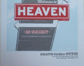 Death Cab For Cutie (with OK Go) @ Memphis, 2006 - Poster (35cm x 25cm)