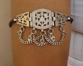 vintage antique tribal old silver armlet bracelet bajuband arm ornament bellydance