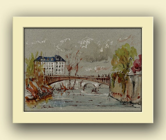 Paris City Notre Dame Paris City Decor Paris Original Art
