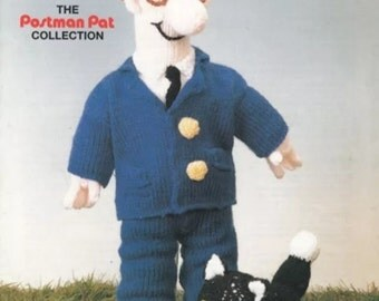 Postman Pat and Jess the cat - Easy knit pattern