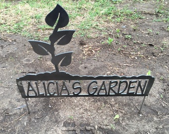 Garden Sign W/Name