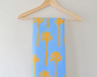 Sun and Sky Palm Tree Print Tea Towel
