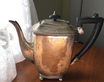 SALE Vintage Sheffield  Coffee Pot, silver plate  coffee pot, English coffee pot, Kentshire silver plate, teapot,