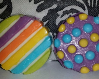 12 Striped and Poke-a-Dots Chocolate Covered Oreos! Birthdays/Favors/Candy Table/Weddings
