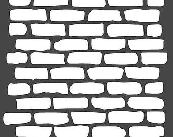 Bricks Stencil - 12x12
