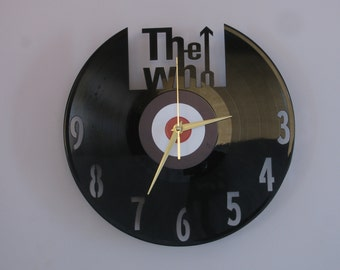 The Who clock, vinyl record clock, The Who, vinyl record art, vinyl wall clock, record wall clock, vinyl clock