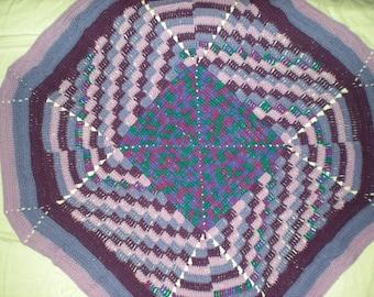 Purple Diagonal Throw Blanket