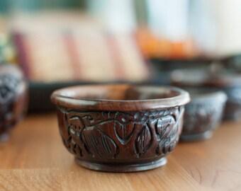Carved Bowl- Wooden, African Design